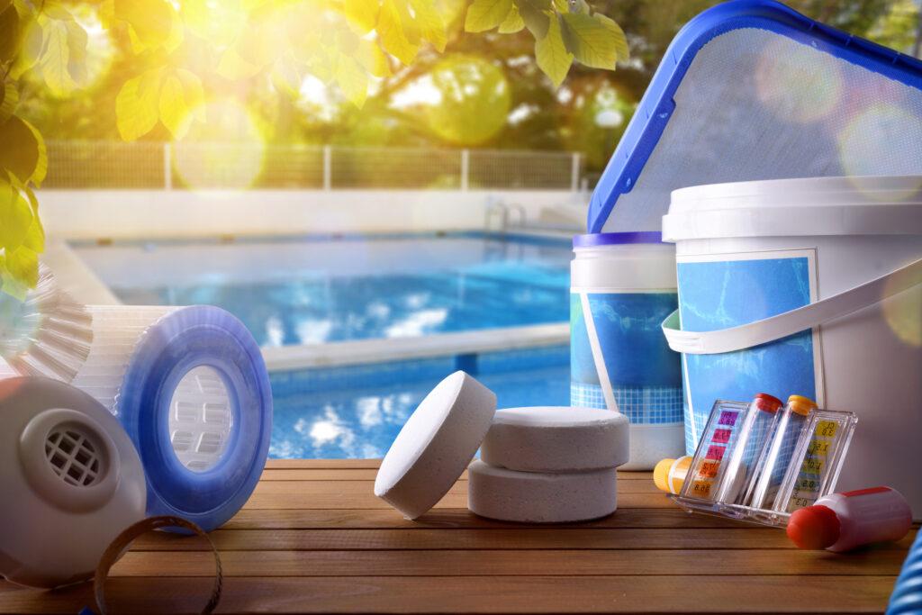 schoonmaken zwembad